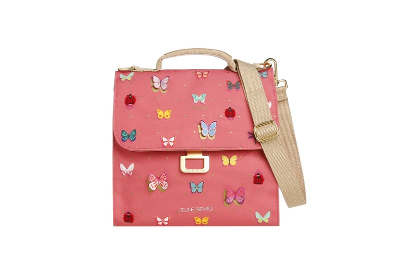 Lunch Bag Butterfly Pink