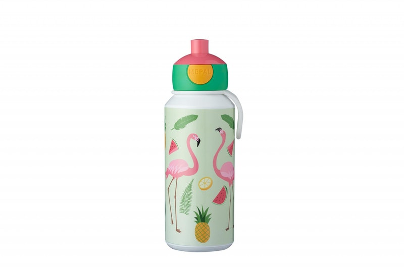 Drinkfles pop-up Tropical flamingo 400ml