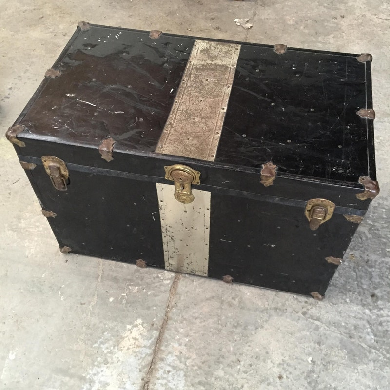 Black and Gold Aluminium Trunk