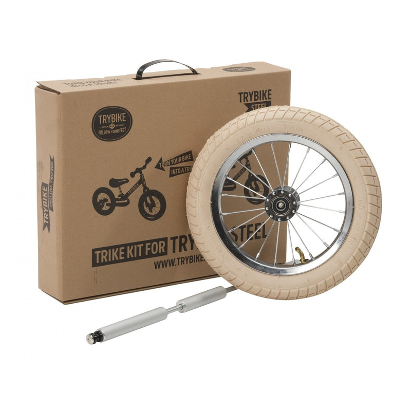Metalen loopfiets vintage trike kit - wit wiel