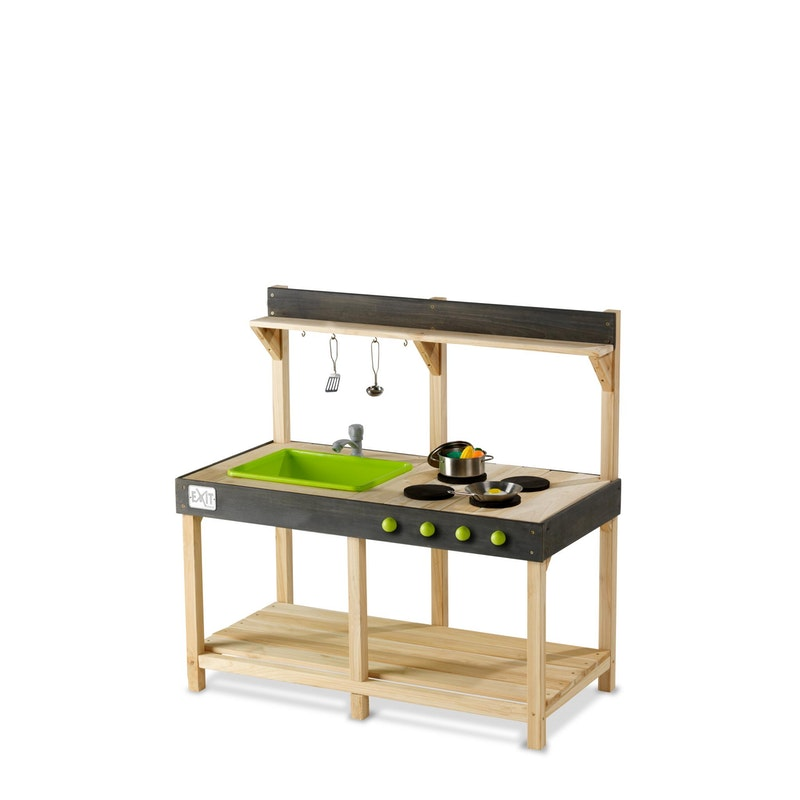 Yummy outdoor Play Kitchen 100 naturel + gratis Picknickset t.w.v €44,95
