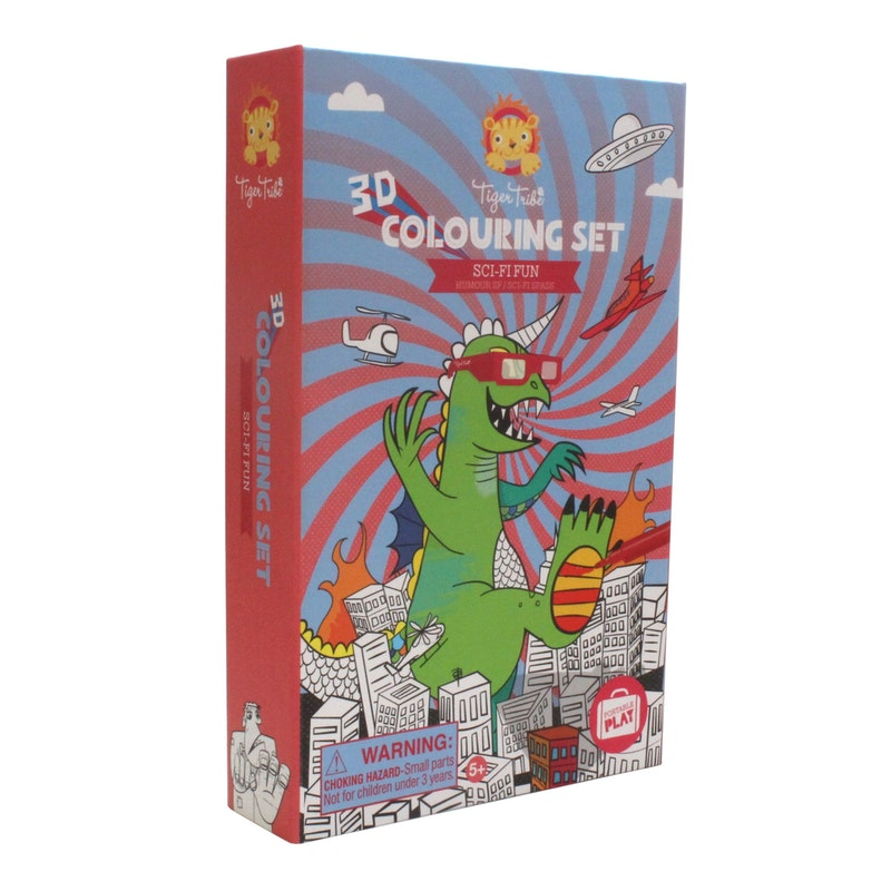 3D colouring set Sciencefiction