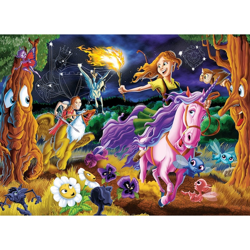 Family puzzle 350 pieces - Mystical World