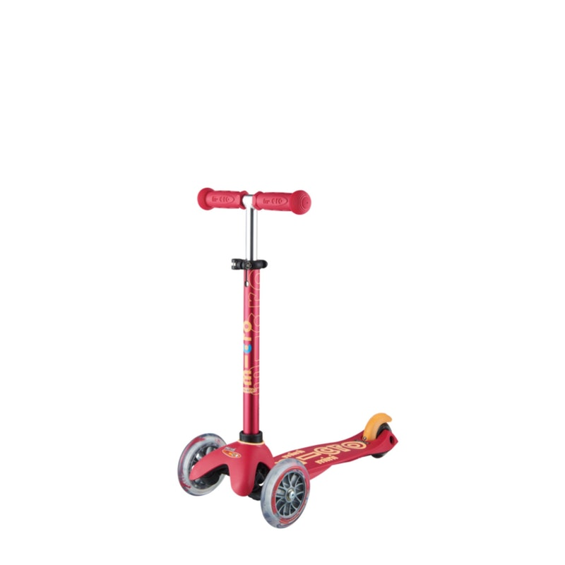 Step Mini Deluxe 3 in 1 Ruby rood + Pushbar