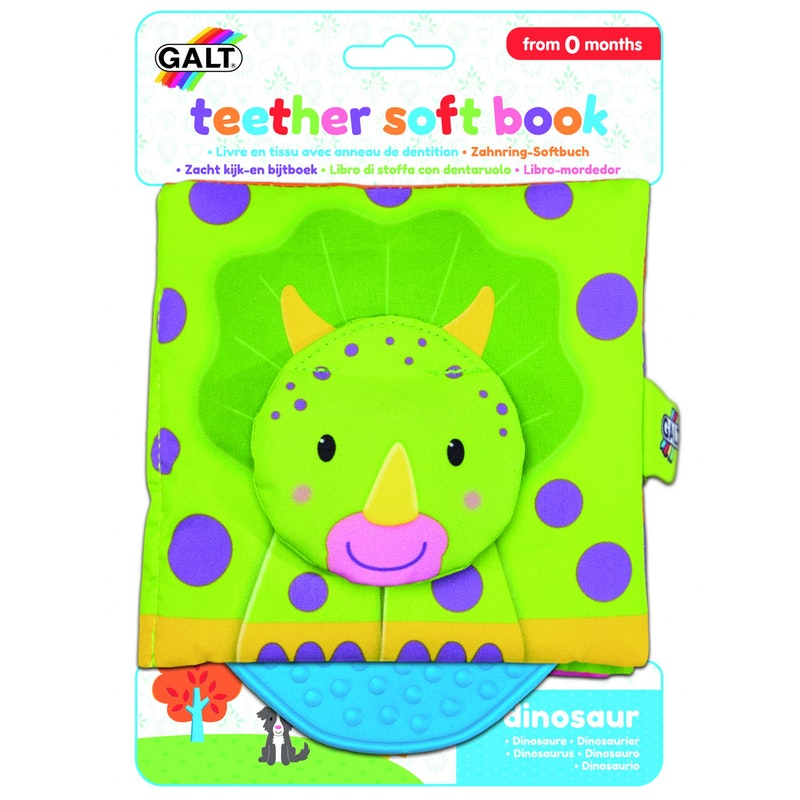 First Years - Teether Soft Book – Dinosaur