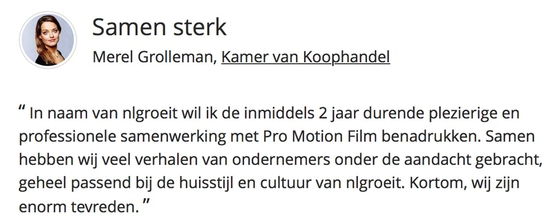 Review videoproductie