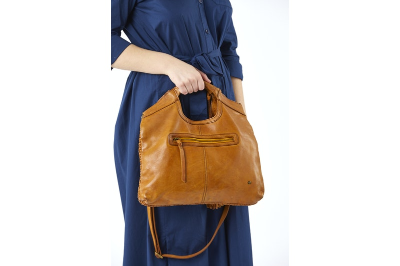 Leather bag weave