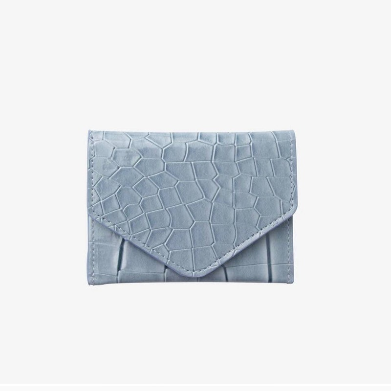 Wallet croco blue