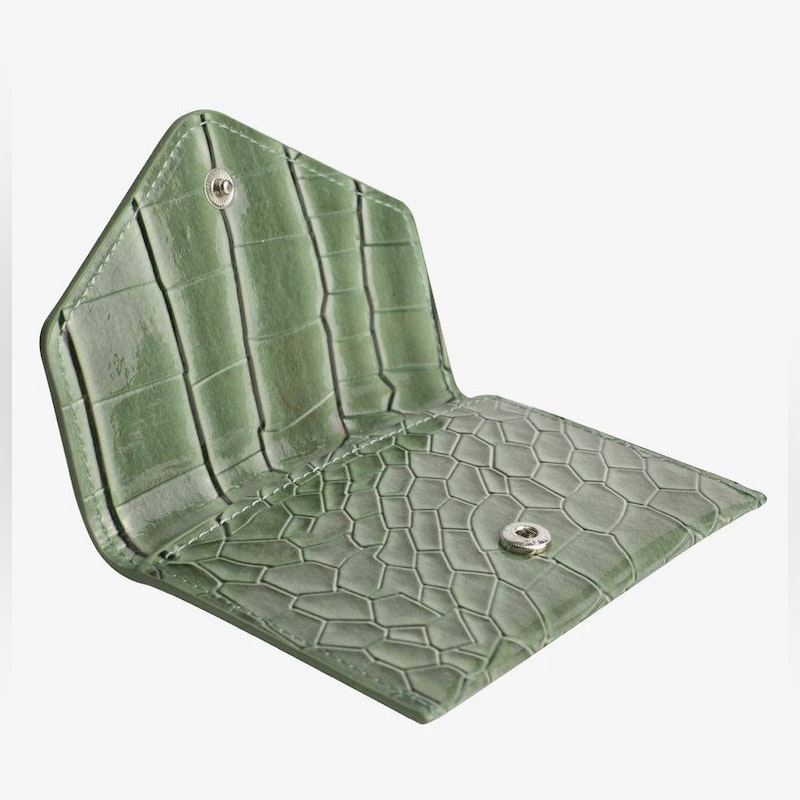 Wallet croco green