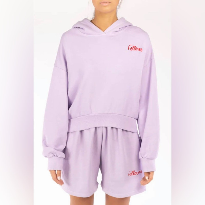 Kylie Lilac Crop Sweat